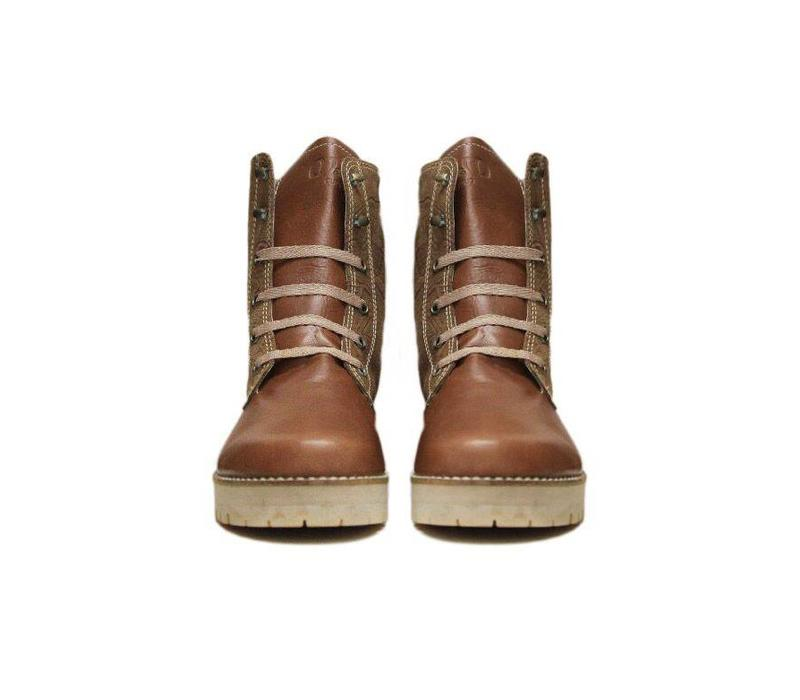 ANKLE BOOTS 100% LEATHER FROM URUGUAY - CARAMELO