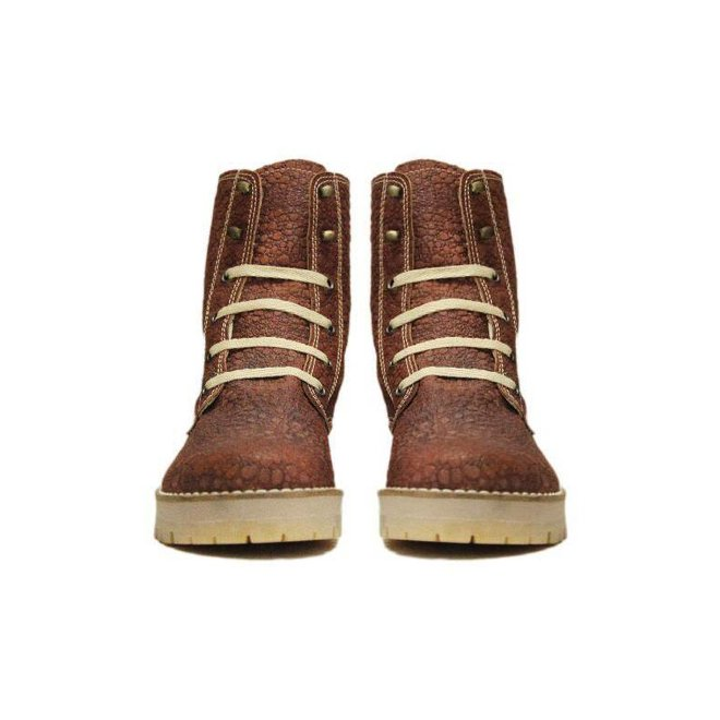 ANKLE BOOTS 100% LEATHER FROM URUGUAY - BROWN MOON