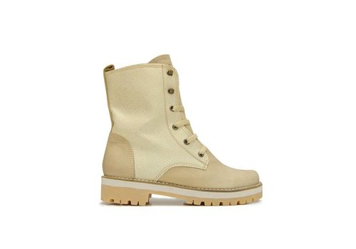 Matices ANKLE BOOTS 100% LEATHER FROM URUGUAY - CREME GLOSS