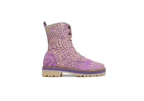 MATICES ANKLE BOOTS 100% LEATHER FROM URUGUAY - PURPLE MOON