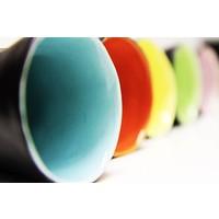 "Ceramic cup black ""Favella Collection"""