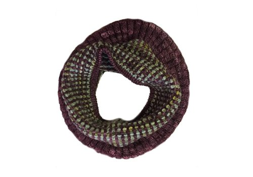 MONCLOA Bufanda loop Coral, 100% lana Merino