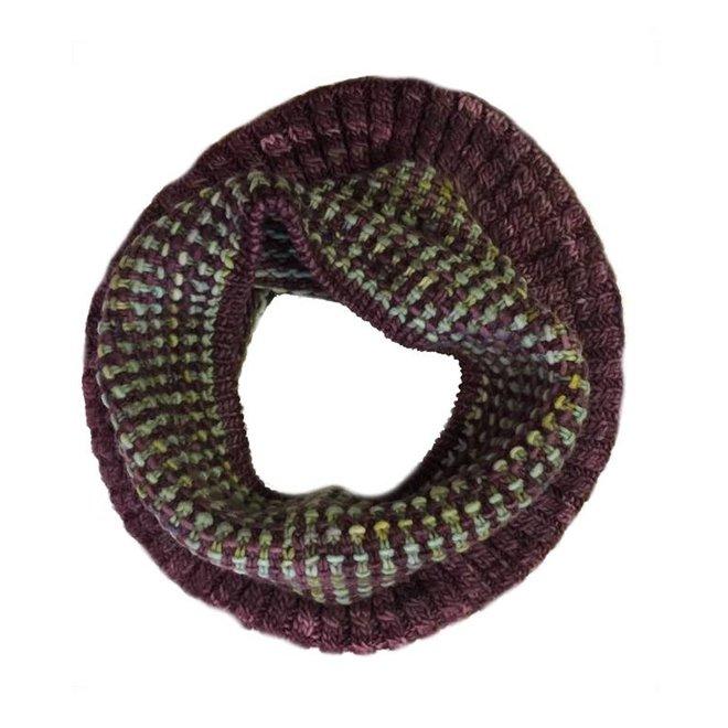 Bufanda loop Coral, 100% lana Merino