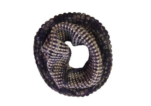 MONCLOA Bufanda loop Coral Lila, 100% lana Merino