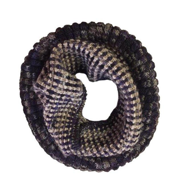 Bufanda loop Coral Lila, 100% lana Merino