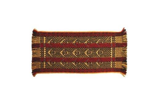 Carpet Mapuche Yellow-Red- Black, 150x70cm, 100% Sheep Wool