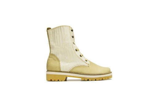 Matices ANKLE BOOTS 100% LEATHER FROM URUGUAY - CREME WHITE
