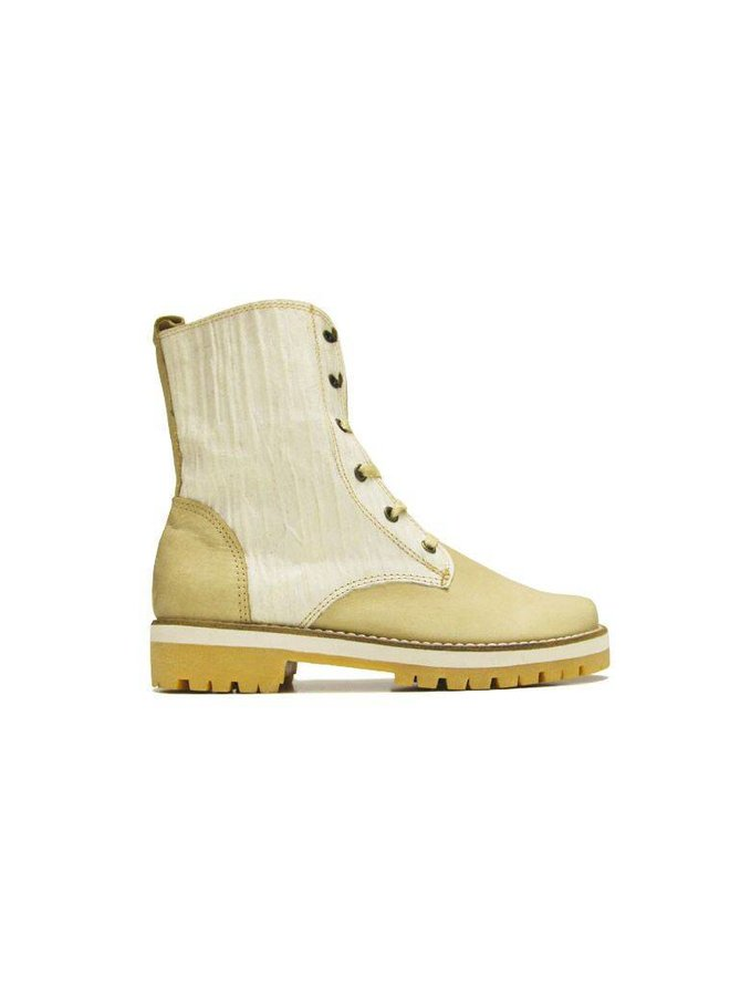 ANKLE BOOTS 100% LEATHER FROM URUGUAY - CREME WHITE