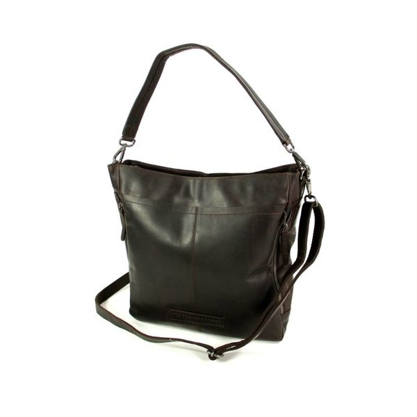 Damestas Shopper OLDHAMM wax pull up bruin