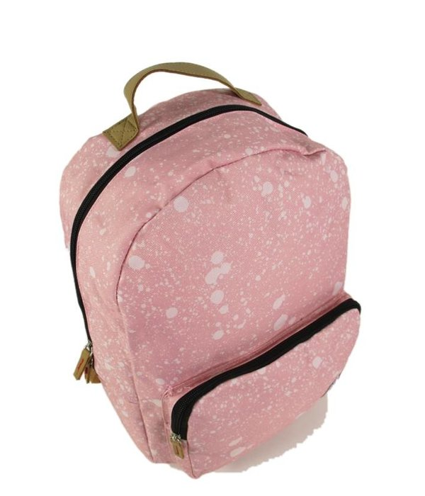 The Pack Society Classic Backpack Coral spatters allover roze