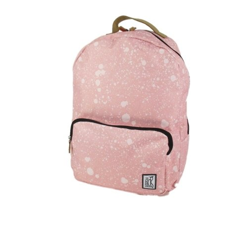 Image of Classic Backpack Coral spatters allover roze