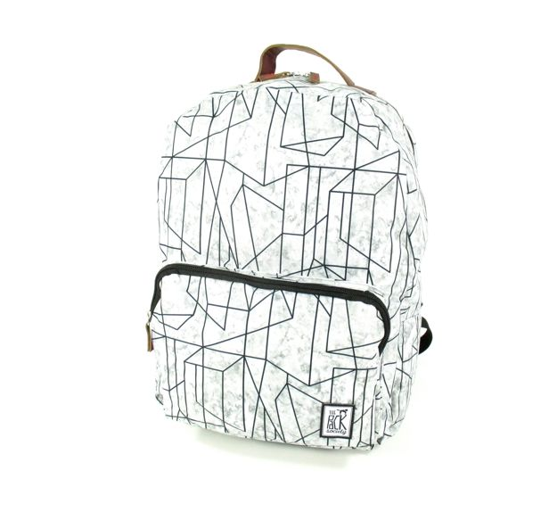 Image of Classic Backpack Geometric Marble Grijs