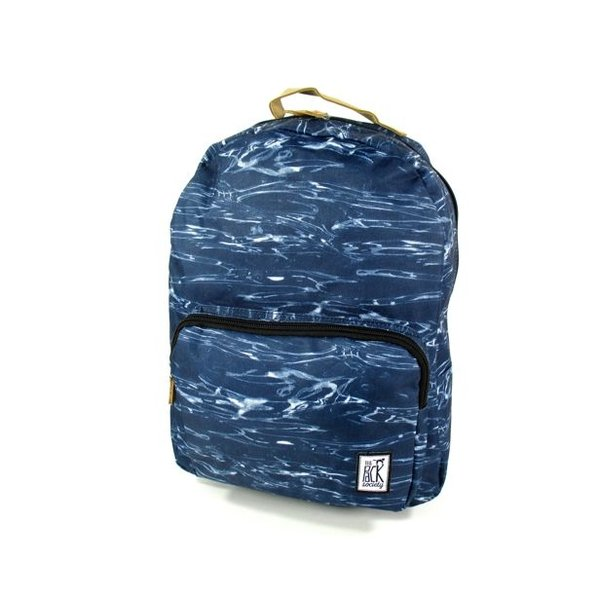 Classic Backpack waves allover Blauw