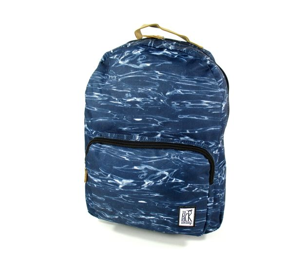 Image of Classic Backpack waves allover Blauw