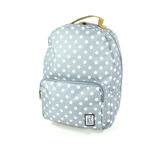 Classic Backpack White dots allover Grijs