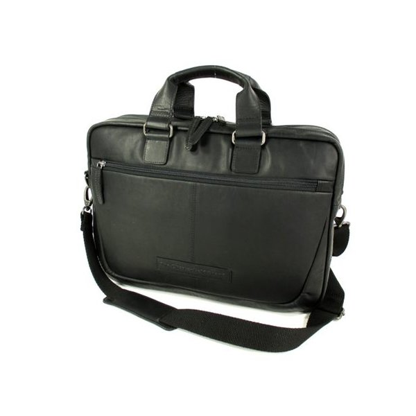 2 vaks business tas laptoptas SETH wax pull up zwart