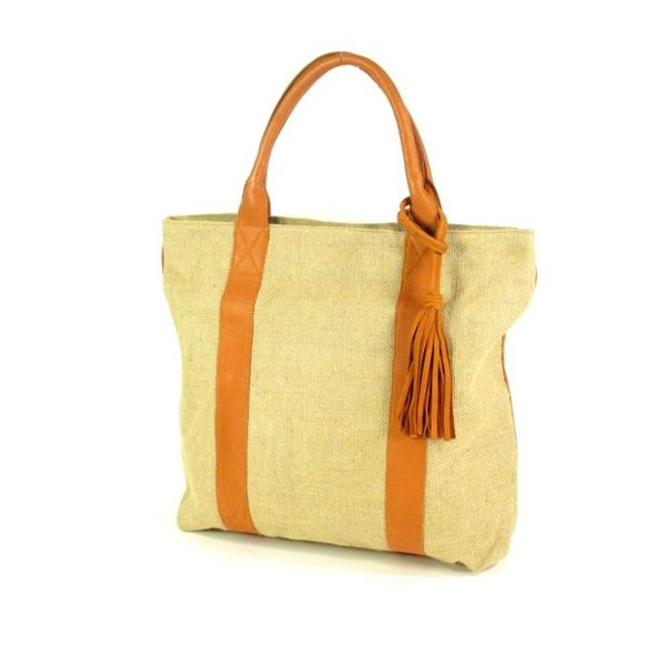 Handtas strandtas CAPE bag Naturel / cognac