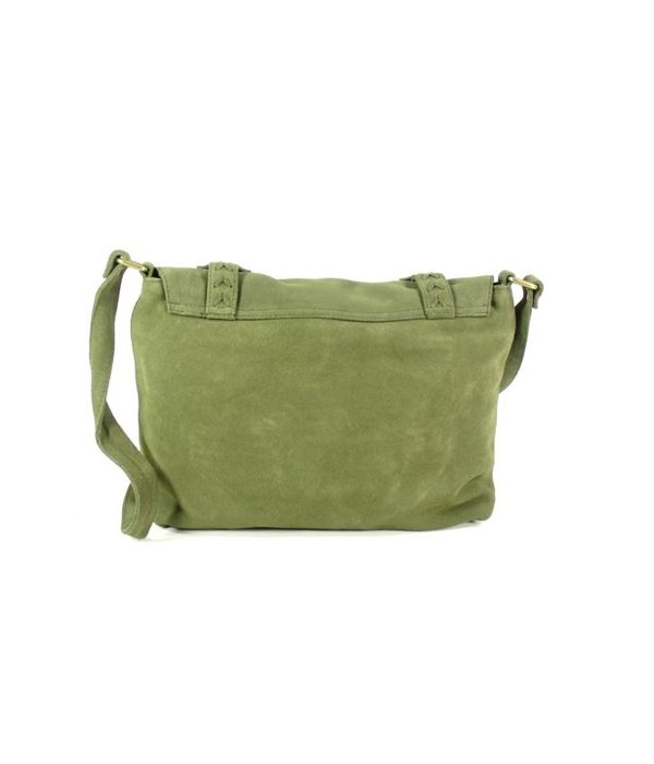 House of Sakk Fair Trade handgemaakte Schoudertas kleptas BURUNG BAG groen