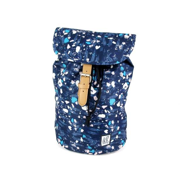 Image of Daypack rugzak Blauw Speckles allover