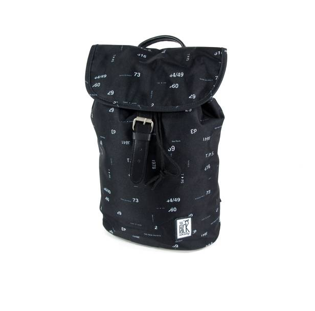 Image of Daypack rugzak Zwart Numbers allover