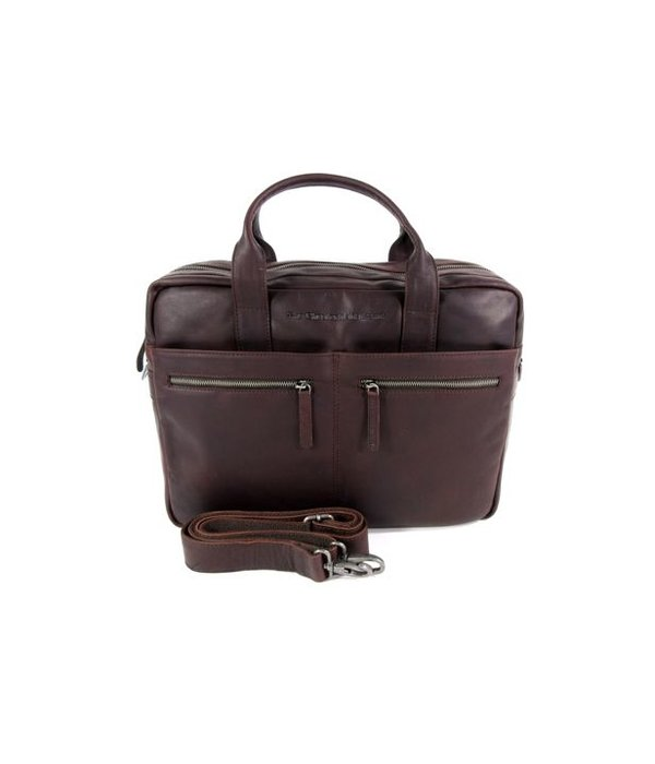 Chesterfield business tas laptoptas JAKE wax pull up Bruin