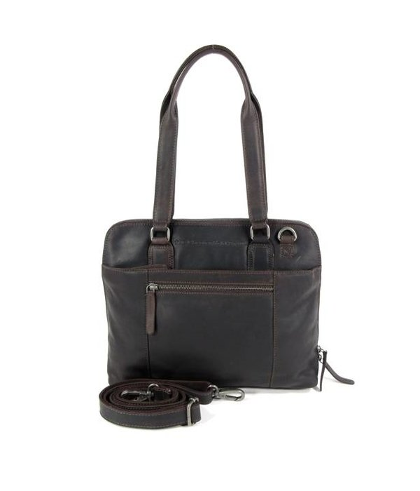 Chesterfield Compacte dames office bag M CARA wax ull up bruin