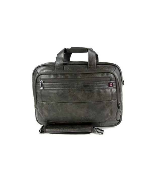 "GABOL PU Briefcase Documententas 15,6"" laptoptas CIVIC Chocolate"