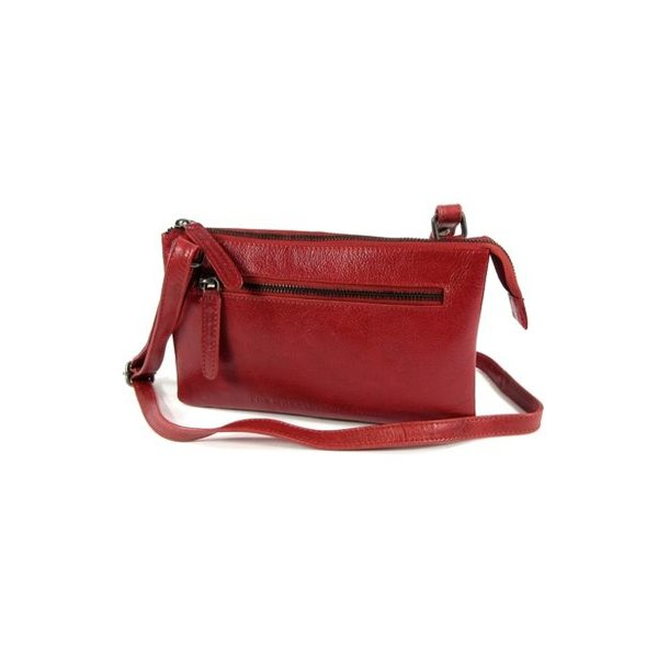 Trendy schoudertas damestas EIRA Odean cow leather Rood