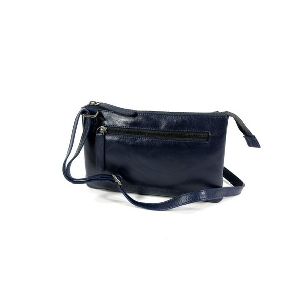 Trendy schoudertas damestas EIRA Odean cow leather Navy