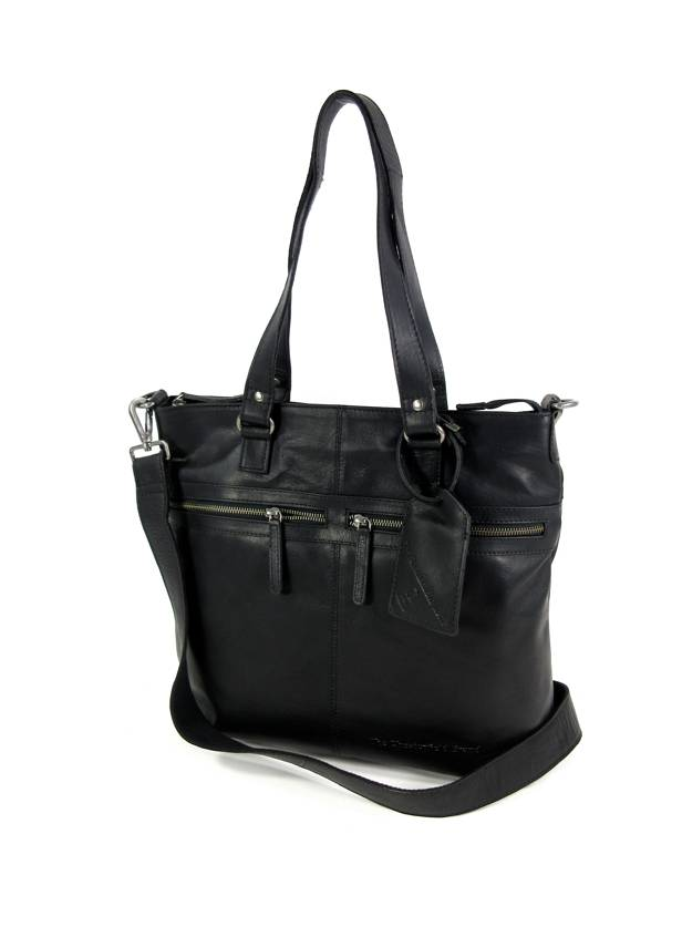 Chesterfield Shopper Cleo Wax Pull Up Black