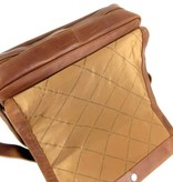Chesterfield Schoudertas kleptas Chen Wax Pull Up Cognac