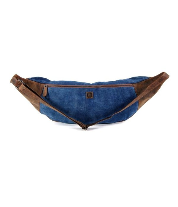 LEATHER DESIGN Bodybag XL Hunter Jeans Bruin blauw