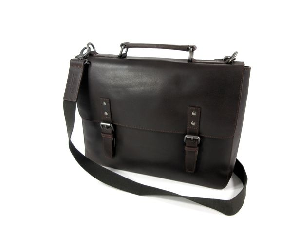 Image of 2 vaks briefcase documententas DAKOTA bruin