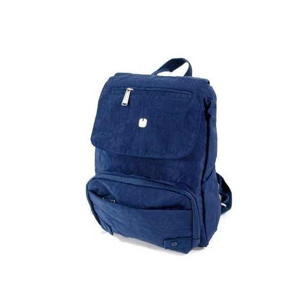 Nylon trendy daypack backpack WEST Blauw
