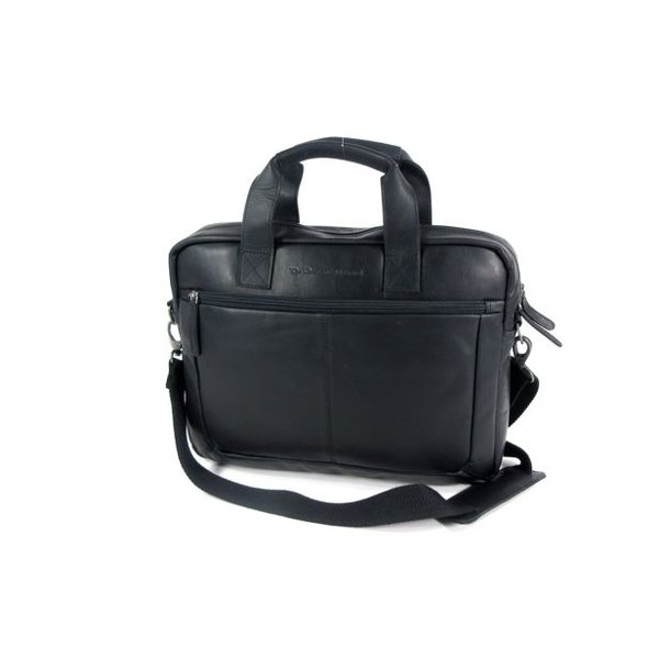 "Heren zakentas 15"" Laptop tas CALVI Wax Pull up Zwart"