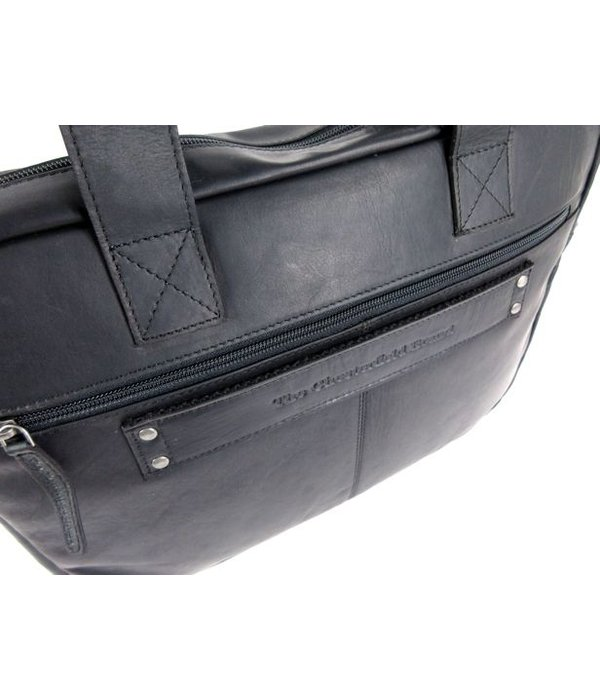 "Chesterfield Heren zakentas 15"" Laptop tas CALVI Wax Pull up Zwart"