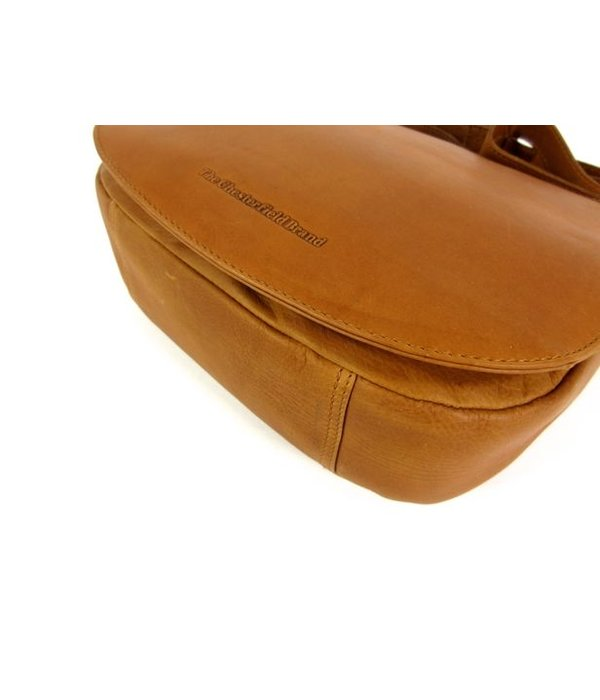 Chesterfield Dames schoudertas kleptas YVES wax pull up Cognac