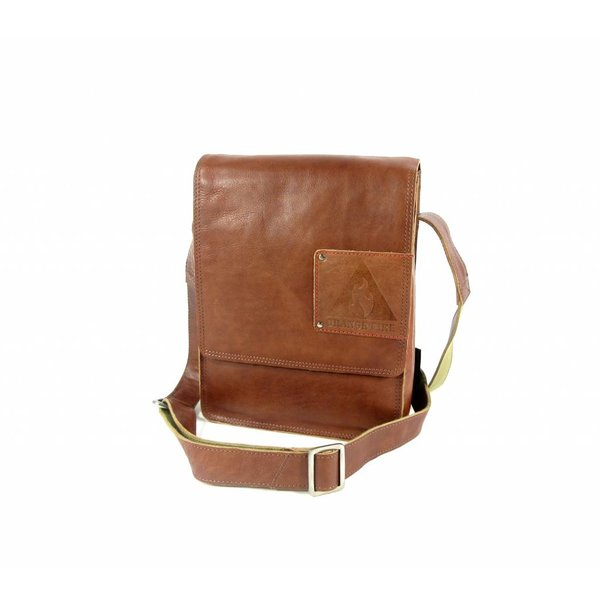TABLET TAS MIDDLE FLAP HIGH - COGNAC