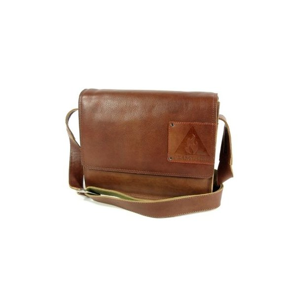 TABLET TAS MIDDLE FLAP LOW - COGNAC