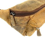 LEATHER DESIGN Leren heuptas gordeltas hunter bruin