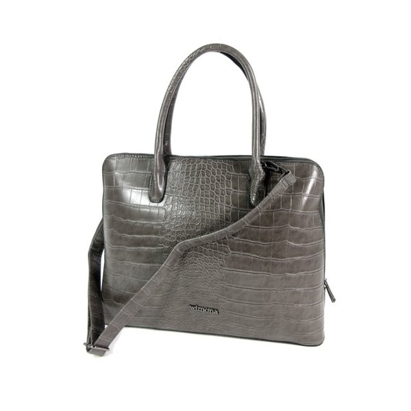 PU Croco Damestas office bag schooltas LUISA Grijs