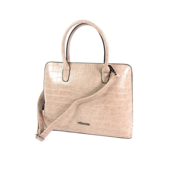 PU Croco Damestas office bag schooltas LUISA taupe