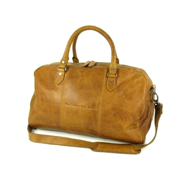 Leren reistas weekendtas WILLIAM Wax pull up cognac