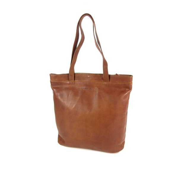 Shopper large BONN Cow wax pull up Cognac