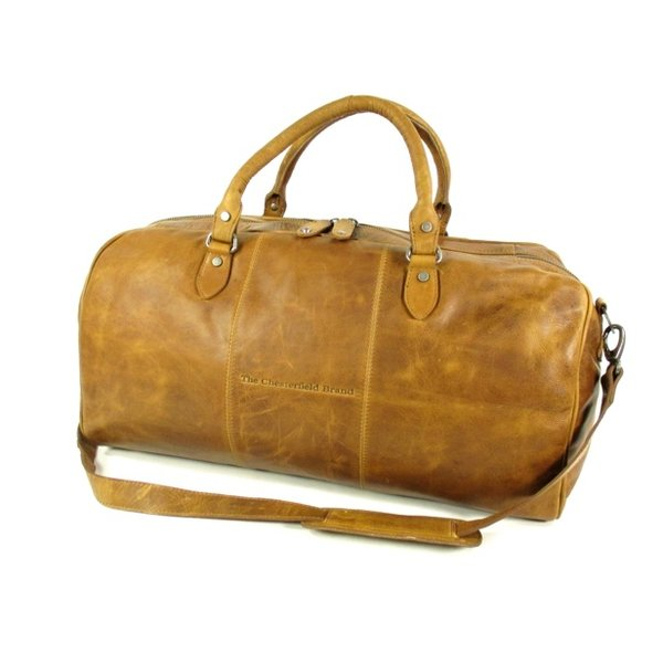 reistas weekendtas William Wax Pull up leer Cognac