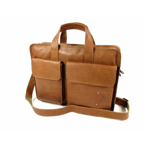 "Laptoptas business tas 15,6"" Twinner cognac"