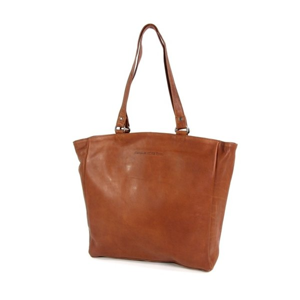 Shopper large BERLIN Cow wax pull up Cognac