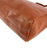 Chesterfield Shopper large BERLIN Cow wax pull up Cognac