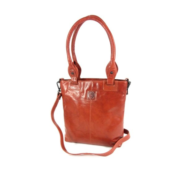 damestas shopper schoudertas cognac