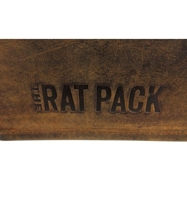 THE RAT PACK  BUFFALO 15 inch heren kleptas schoudertas bruin